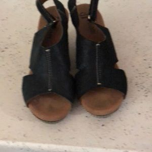 Clark's wedges - worn once - size 7